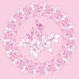El círculo de flores de salvaje subió Fotos de archivo libres de regalías