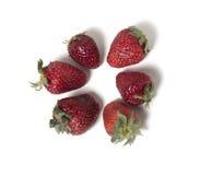 El círculo de fresas en el fondo blanco Foto de archivo libre de regalías