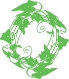 El círculo de la guirnalda del ejemplo de la hoja se puede utilizar para una empresa de negocios de la camisa del logotipo comerc fotografía de archivo