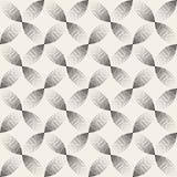 El círculo de punteado blanco y negro inconsútil del arco del vector forma el tono medio Dot Work Pattern de la pendiente ilustración del vector