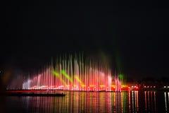 El círculo del festival de la luz El canal del rowing Foto de archivo libre de regalías