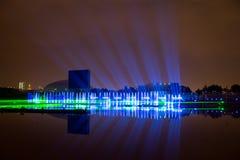 El círculo del festival de la luz El canal del rowing Fotografía de archivo libre de regalías