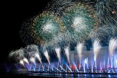 El círculo del festival internacional ligero 2016 de Moscú Fotografía de archivo