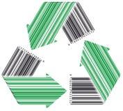 El código de barras recicla Imagenes de archivo