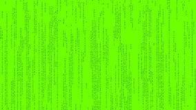 El código del texto del estilo de la matriz en color verde y fondo metrajes