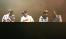 El C2C del equipo francés de DJ Fotografía de archivo