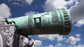 El cañón del zar, Moscú el Kremlin, Rusia almacen de video