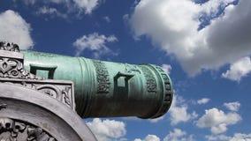 El cañón del zar, Moscú el Kremlin, Rusia almacen de metraje de vídeo