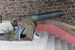 El cañón en el fuerte I de Aziziye en Erzurum Imagen de archivo