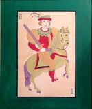 El caballero, el hombre del caballo, audacia, valor, atreviéndose fotos de archivo