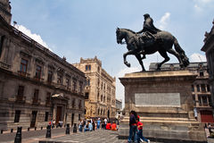 El Caballito in Mexico City royalty free stock image