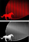 El caballo carda vector Imagen de archivo libre de regalías