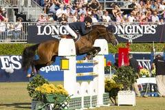El caballo que salta - CSIO Barcelona fotografía de archivo