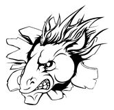El caballo se divierte brecha de la mascota Imagenes de archivo