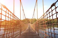El cable cable-permanecía el puente Imagen de archivo libre de regalías