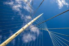 El cable permanecía el puente Fotografía de archivo libre de regalías