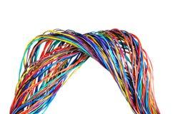 El cable trenzado del ordenador del color Fotos de archivo libres de regalías