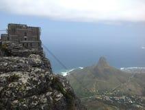 El cablecarril en la montaña de la tabla Imagenes de archivo