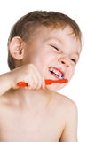 El cabrito limpia los dientes fotos de archivo libres de regalías