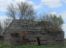 El caer abajo edificio agrícola Imagen de archivo