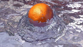El caer anaranjada en agua stock de ilustración