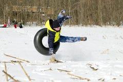 El caer apagado tubo de la nieve Fotos de archivo