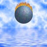 El caer ardiente del cometa Imágenes de archivo libres de regalías