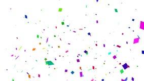 El caer blanca del confeti stock de ilustración