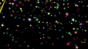 El caer colorida de las estrellas stock de ilustración
