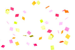 El caer colorida del confeti Foto de archivo libre de regalías