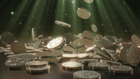 El caer de Bitcoins Imagen de archivo