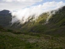 El caer de las nubes Fotos de archivo