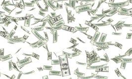 El caer de los billetes de dólar Imagen de archivo libre de regalías