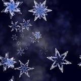 El caer de los copos de nieve Fotos de archivo libres de regalías