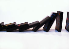 El caer de los dominós Imágenes de archivo libres de regalías