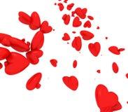 El caer del amor/de los corazones Fotos de archivo libres de regalías