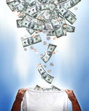 El caer del dinero Imagen de archivo libre de regalías