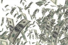 El caer del dinero foto de archivo