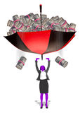El caer del dinero Foto de archivo libre de regalías