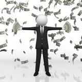 El caer del dinero del hombre de negocios Fotos de archivo libres de regalías