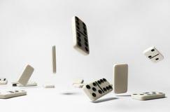 El caer del dominó Imagen de archivo