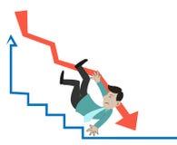 El caer del hombre de negocios Imagen de archivo