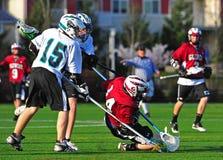 El caer del lacrosse Foto de archivo