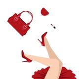 El caer en rojo Foto de archivo libre de regalías