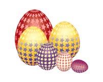 El caer modelada colorida hermosa de los huevos de Pascua Imagen de archivo