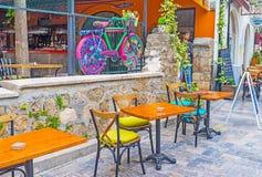 El café al aire libre Imagen de archivo