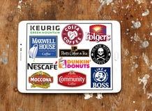 El café califica logotipos de los iconos fotos de archivo libres de regalías