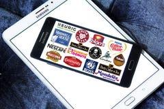 El café califica logotipos de los iconos imagenes de archivo
