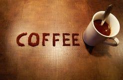 El café de la palabra Fotos de archivo
