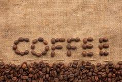 El café de la palabra Foto de archivo libre de regalías